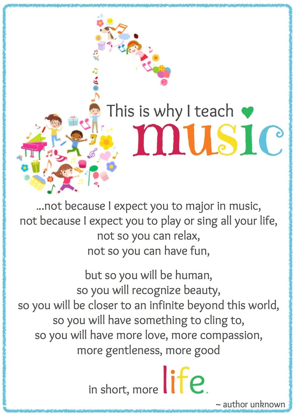 This is why I teach Music...