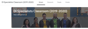 screen clipping of specialist Google Classroom