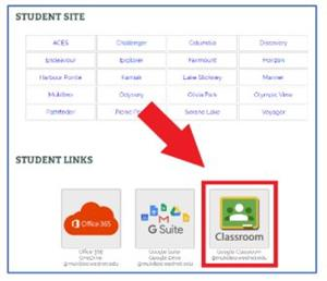 an image showing google classroom tile